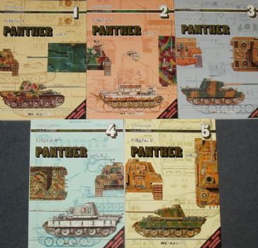 PzKpfw V - Panther, Volumes 1 to 5, by Waldemar Trojca